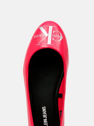 Calvin Klein ružové kožené balerínky Ballerinas Printed