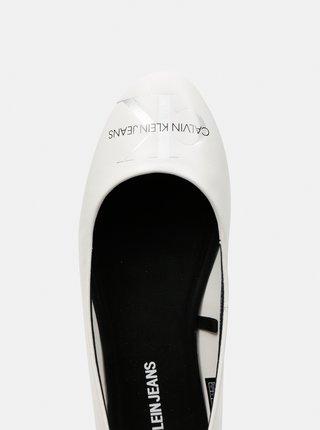 Calvin Klein bílé kožené baleríny Ballerinas Printed