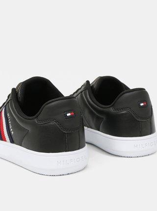 Tommy Hilfiger čierne pánske tenisky Essential Leather Cupsole