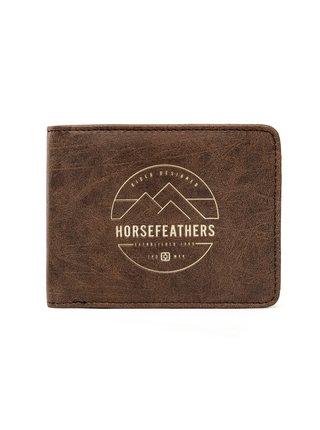 Horsefeathers CAIN brown pánská značková peněženka - hnědá