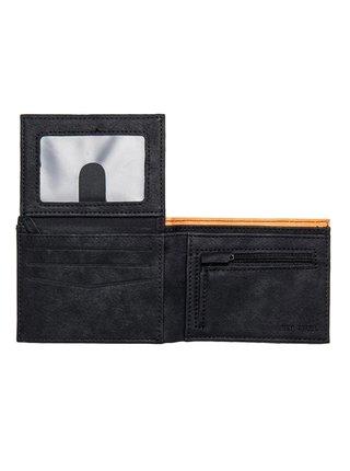 Rip Curl CONTRAST RFID PU ALL BLACK/ORANGE pánská značková peněženka - černá