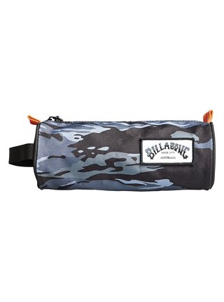 Billabong BARREL black camo penál do školy - modrá