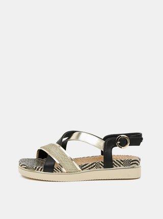 Dámské sandálky ve zlato-černé barvě Wrangler