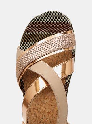 Dámské sandálky v růžovozlaté barvě Wrangler