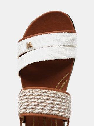 Hnědo-béžové dámské vzorované sandálky Wrangler