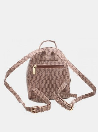 Béžový vzorovaný batoh Bessie London