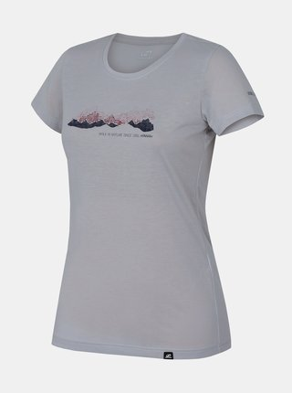 Šedé dámské tričko s potiskem Hannah