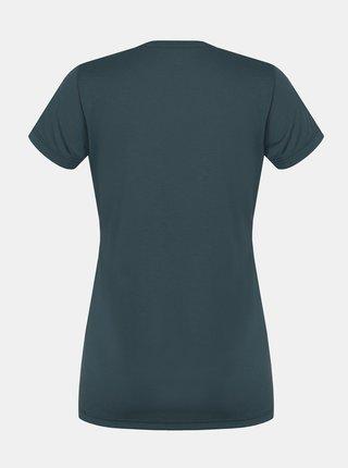 Tmavozelené dámské tričko s potlačou Hannah