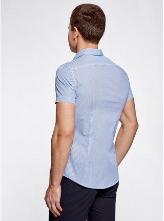 Košile vypasovaná s potiskem OODJI