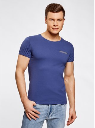 Tričko bavlněné s ozdobnou kapsičkou OODJI