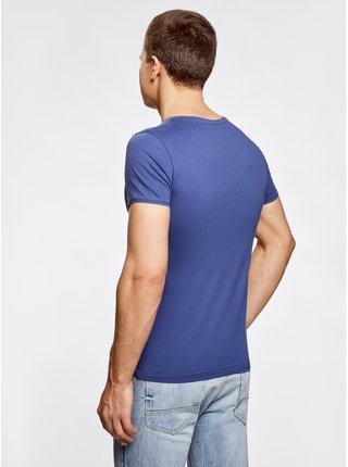 Tričko bavlnené s ozdobnou kapsičkou OODJI