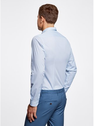 Košile vypasovaná s drobným vzorkem OODJI