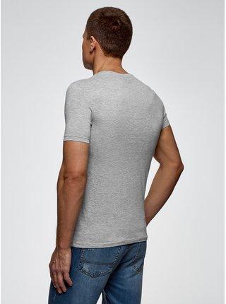 Tričko bavlněné s městským potiskem OODJI