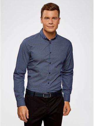 Košile bavlněná s grafickým vzorem OODJI