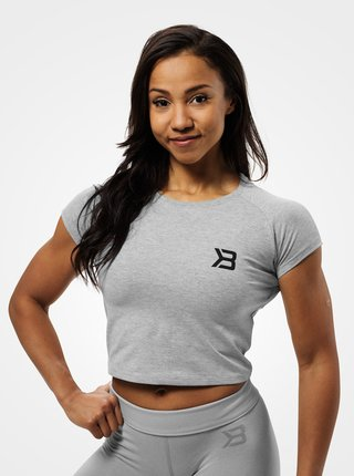 Crop-top Better Bodies Chelsea Tee Grey Melange