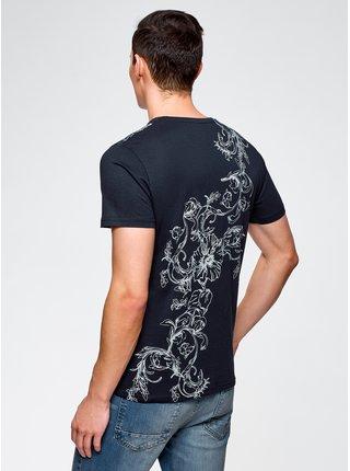 Tričko rovného strihu s kvetinovým vzorom OODJI