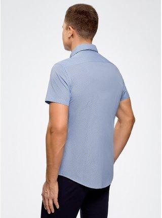 Košile s potiskem s dvojitým límečkem OODJI