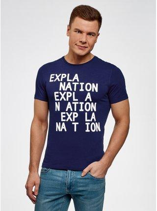 Tričko bavlněné s nápisy OODJI