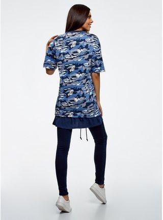 Šaty sa vzorom voľného strihu OODJI