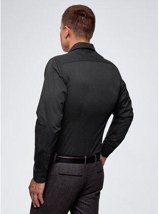 Košile vypasovaná s drobným puntíkem OODJI