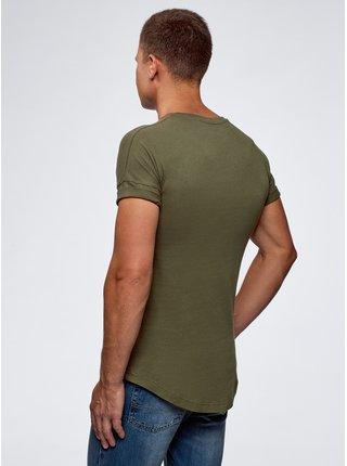Tričko bavlněné s prodlouženými zády OODJI