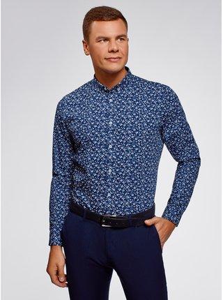 Košile bavlněná s potiskem OODJI