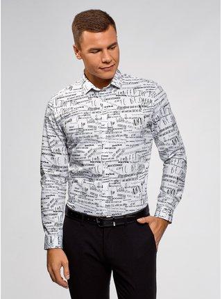 Košile bavlněná s nápisy OODJI