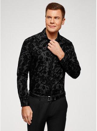 Košile vypasovaná s plastickým potiskem OODJI