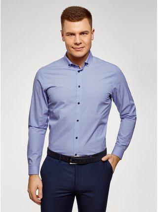 Košile klasická bavlněná OODJI