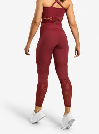 Legíny Better Bodies Waverly Mesh Sangria Red