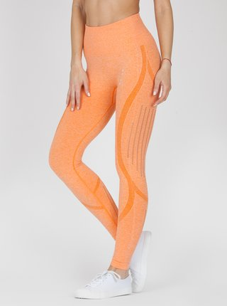 Legíny Naine 4.0. Bezešvé Stripes - Orange
