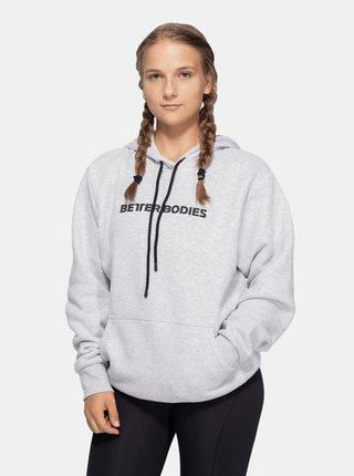 Šedá unisex mikina Better Bodies Logo Hoodie