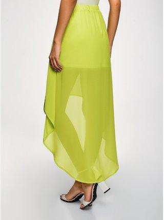 Sukně šifónová s asymetrickou délkou sukně OODJI