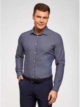 Košile vypasovaná bavlněná OODJI