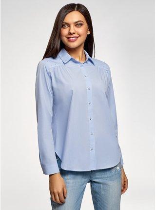Košile volného střihu s ozdobnými korálky OODJI