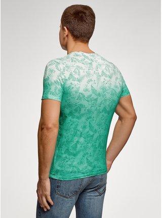 Tričko s potiskem s přechodem barev OODJI