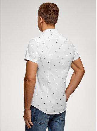 Košile se vzorem s krátkým rukávem OODJI
