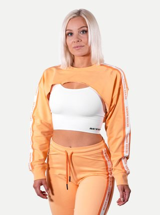 Mikina Better Bodies Crop Chrystie Light Orange