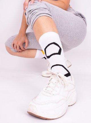 Ponožky GoldBee BeSox Honeycomb White