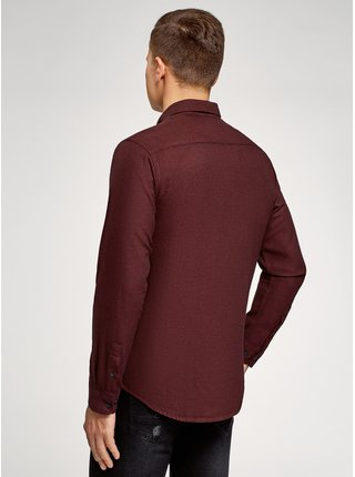 Košile bavlněná s kapsou  OODJI