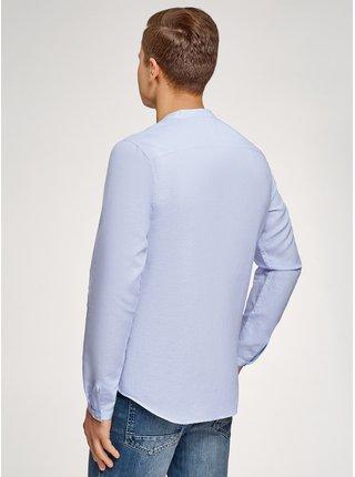 Košile rovná lněná OODJI