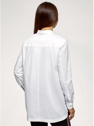 Košile volného střihu s lampasy OODJI