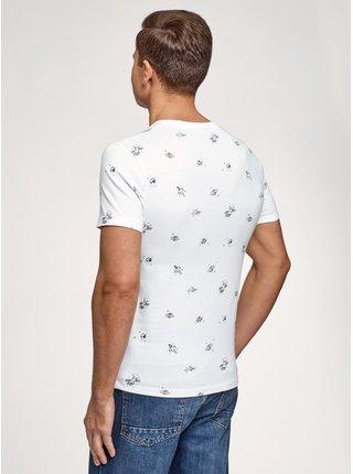 Tričko s potiskem s kapsičkou na prsou OODJI
