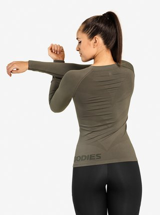 Tričko Better Bodies Nolita Seamless Long Sleeve Washed Green