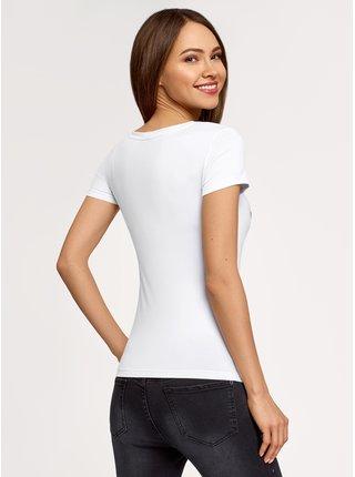 Tričko vypasované s krátkým rukávem OODJI
