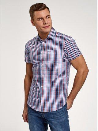 Košile bavlněná s krátkými rukávy OODJI