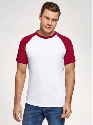Tričko bavlněné s kontrastními raglánovými rukávy OODJI