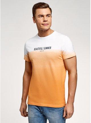 Tričko s potlačou a s prechodom farieb OODJI