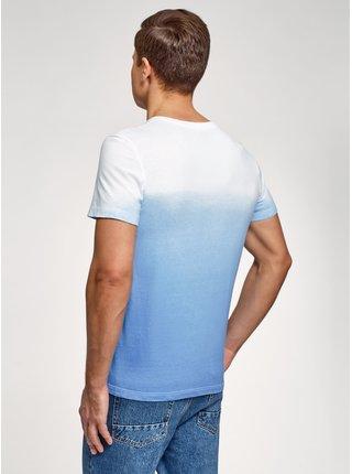 Tričko s potiskem a s přechodem barev OODJI