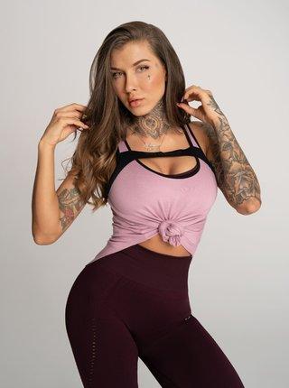Tílko Gym Glamour Deynn Růžové